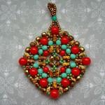 Free pattern for pendant Boho