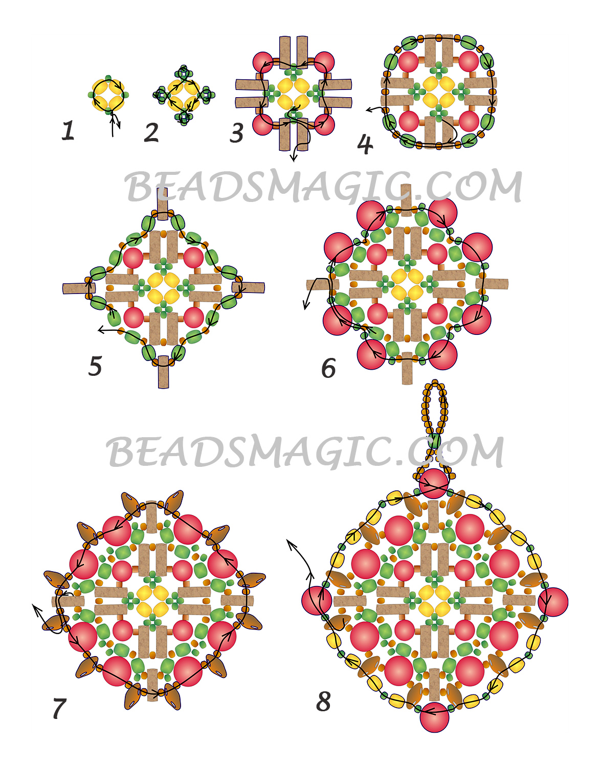 free-pattern-beaded-pendant-tutorial-red-blue-2