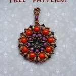 Free pattern for pendant Ethno