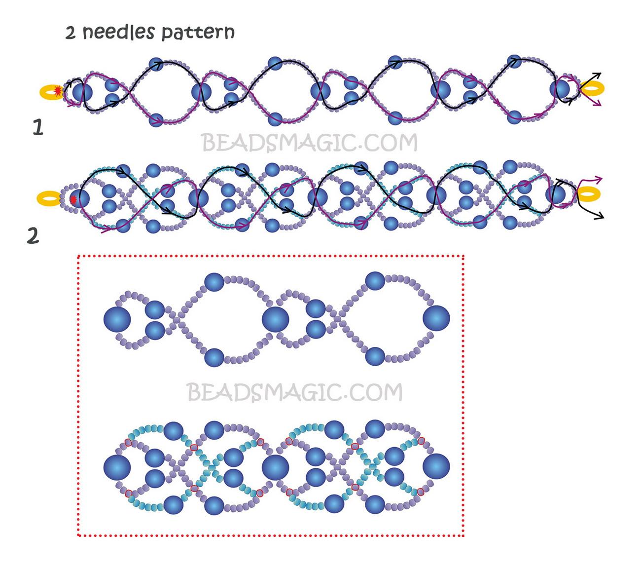 free-pattern-beaded-bracelet-cuff-tutorial-blue-2