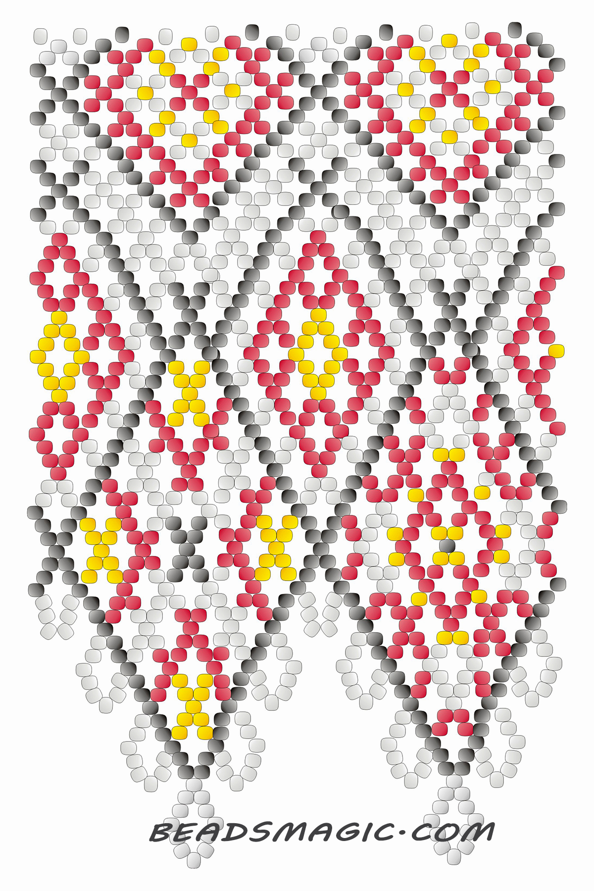 Free pattern for necklace Mexico | Beads Magic