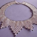 Free pattern for necklace The Silver Shine
