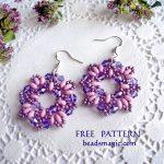 Free pattern for earrings Dulce