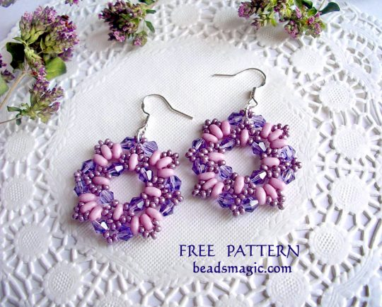 Free pattern for earrings Dulce