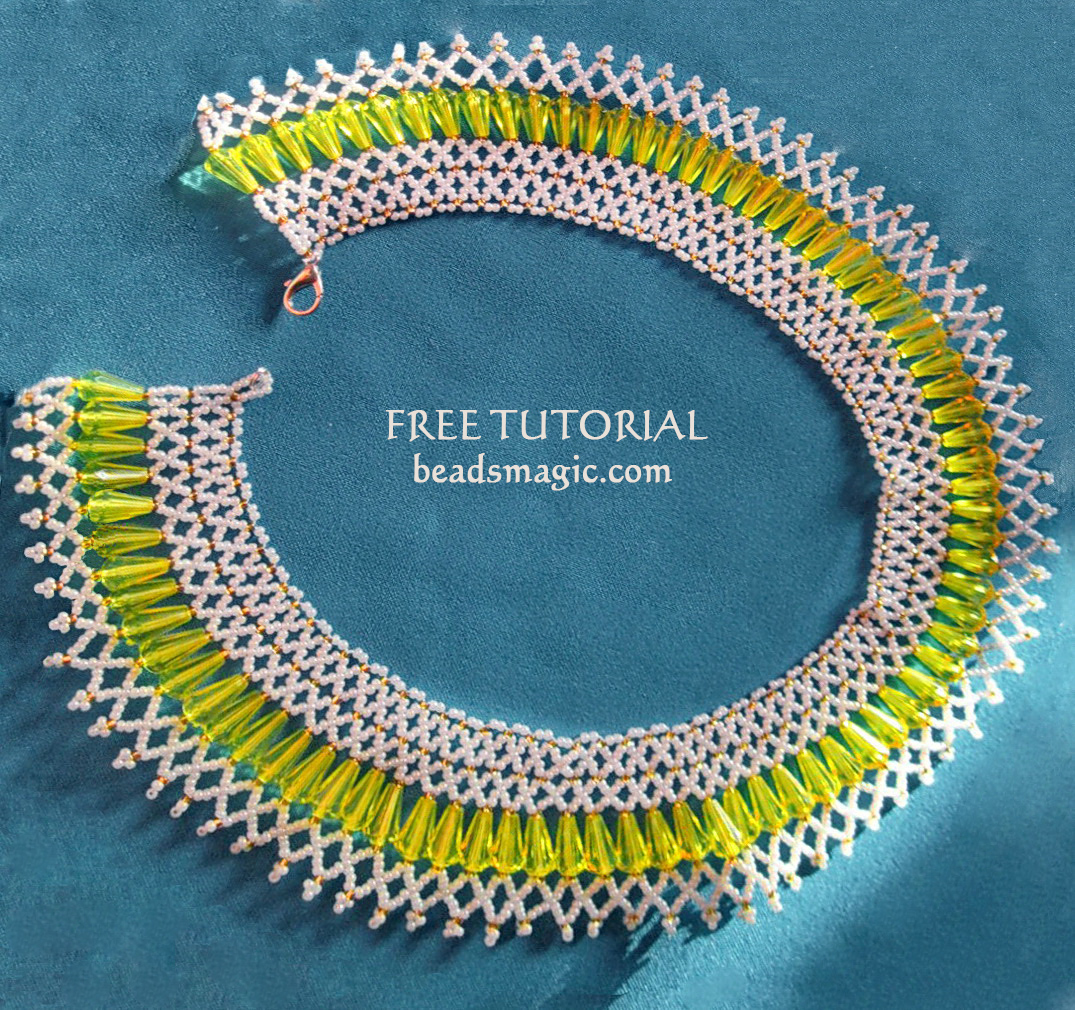 Free pattern for necklace Gimlet