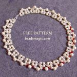 Free pattern for necklace Red Accent