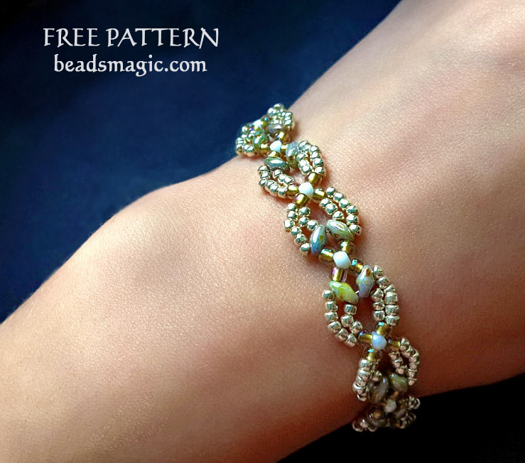 Free pattern for bracelet Shalimar