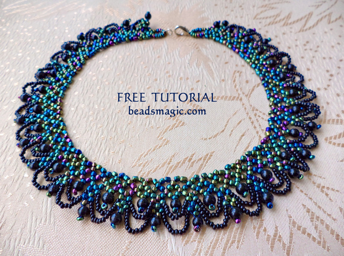 new free pattern for necklace musk magic bloglovin