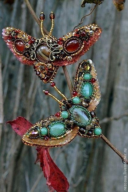 Beautiful Bead Embroidered Butterflies Amp Moths Beads Magic