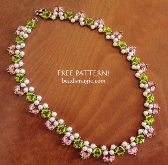 Free pattern for necklace Spring Way