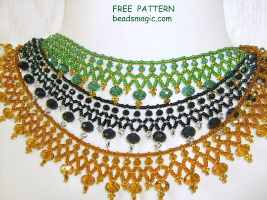 Free pattern for necklace Milano