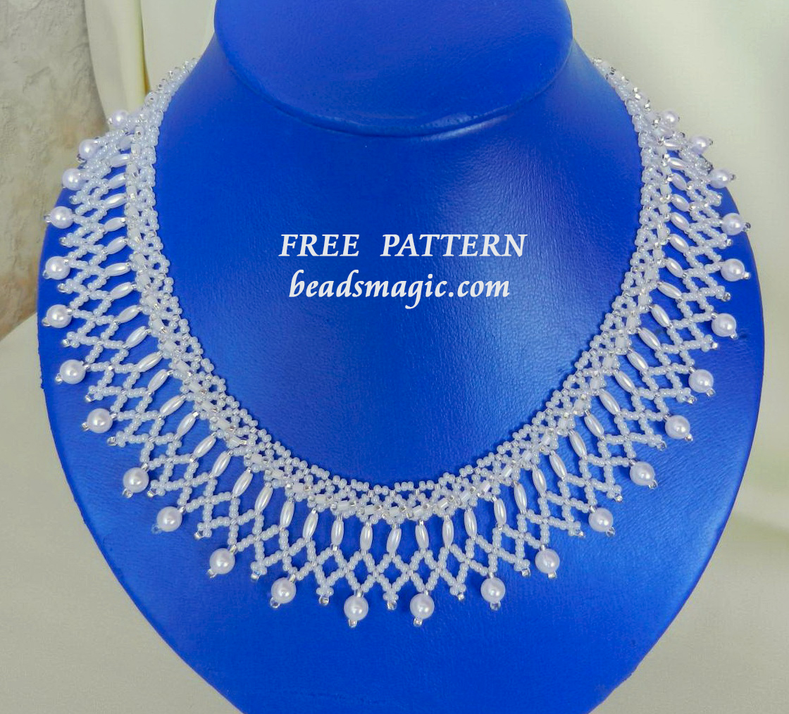 Free pattern for necklace Nadine