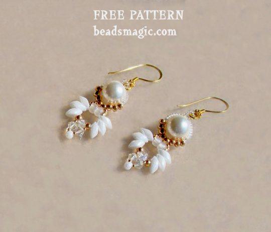 Free pattern for earrings Paloma