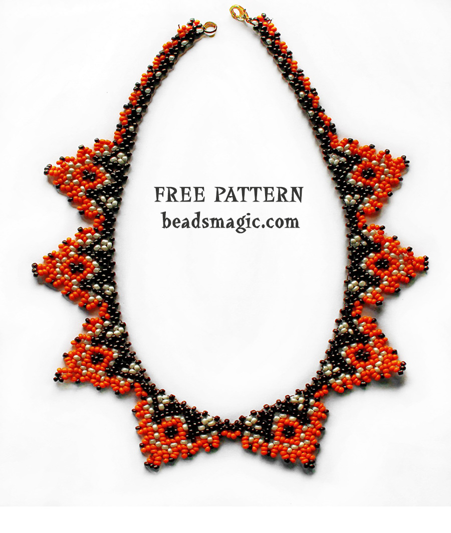 Necklace pattern beads magic free pattern for necklace papaya bankloansurffo Image collections