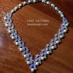 Free pattern for necklace Evita