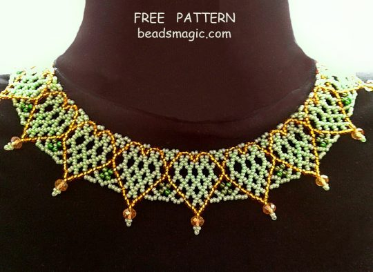 Free pattern for necklace Sweetheart