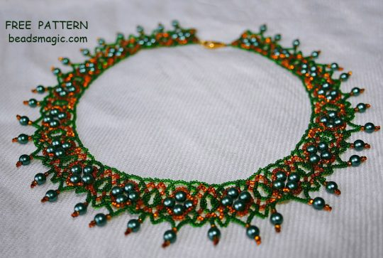 Free pattern for necklace Ada