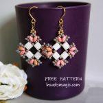 Free pattern for earrings Ksenia
