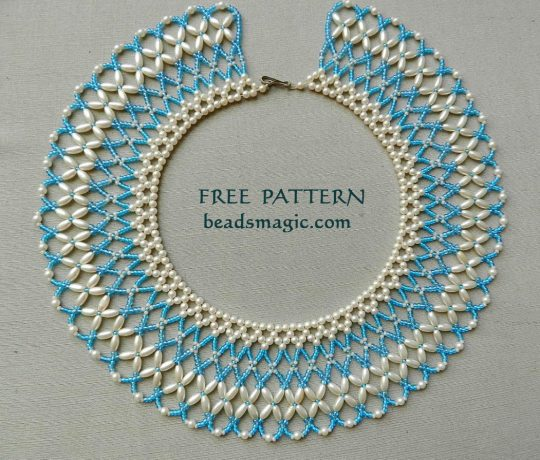 Free pattern for necklace Aphrodite