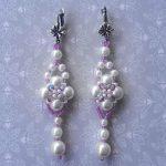 Free pattern for wedding earrings Kyoto