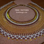 Free pattern for necklace Semiramis in egyptian style