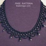Free pattern for necklace Mona