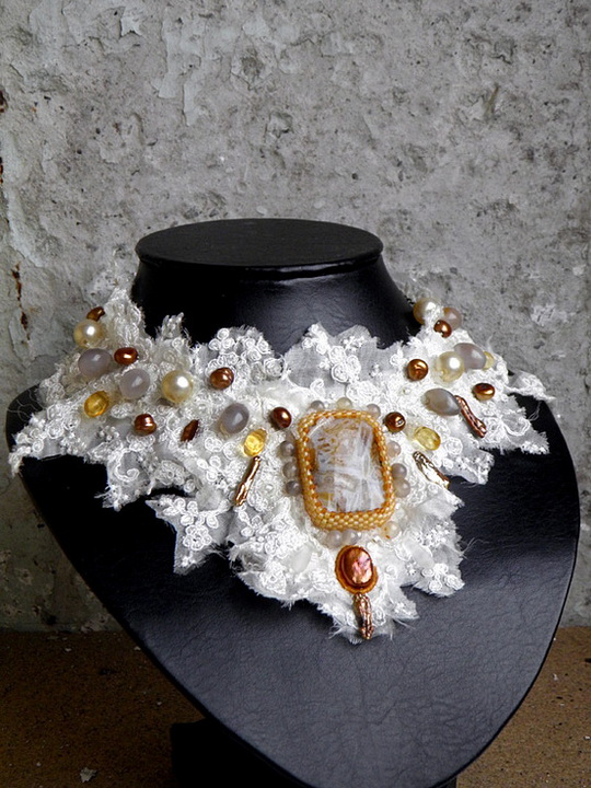 textile necklace