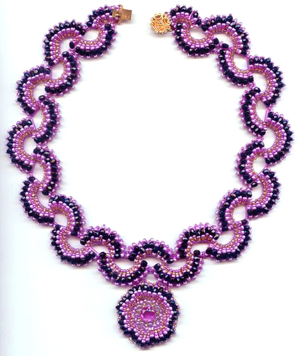 Free Pattern For Necklace With Pendant Algambra Beads Magic