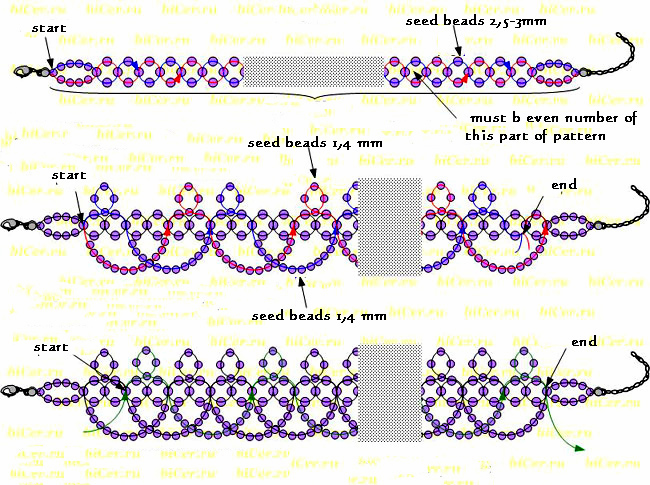 Free Pattern For Pretty Beaded Necklace Night Rights Beads Magic