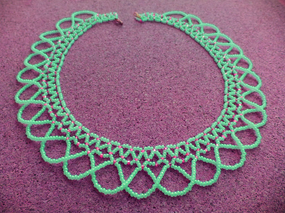 Free beading pattern for necklace Sheila | Beads Magic