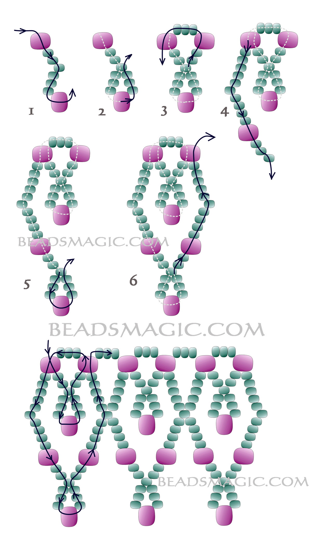 Bead Necklace Designs Ideas