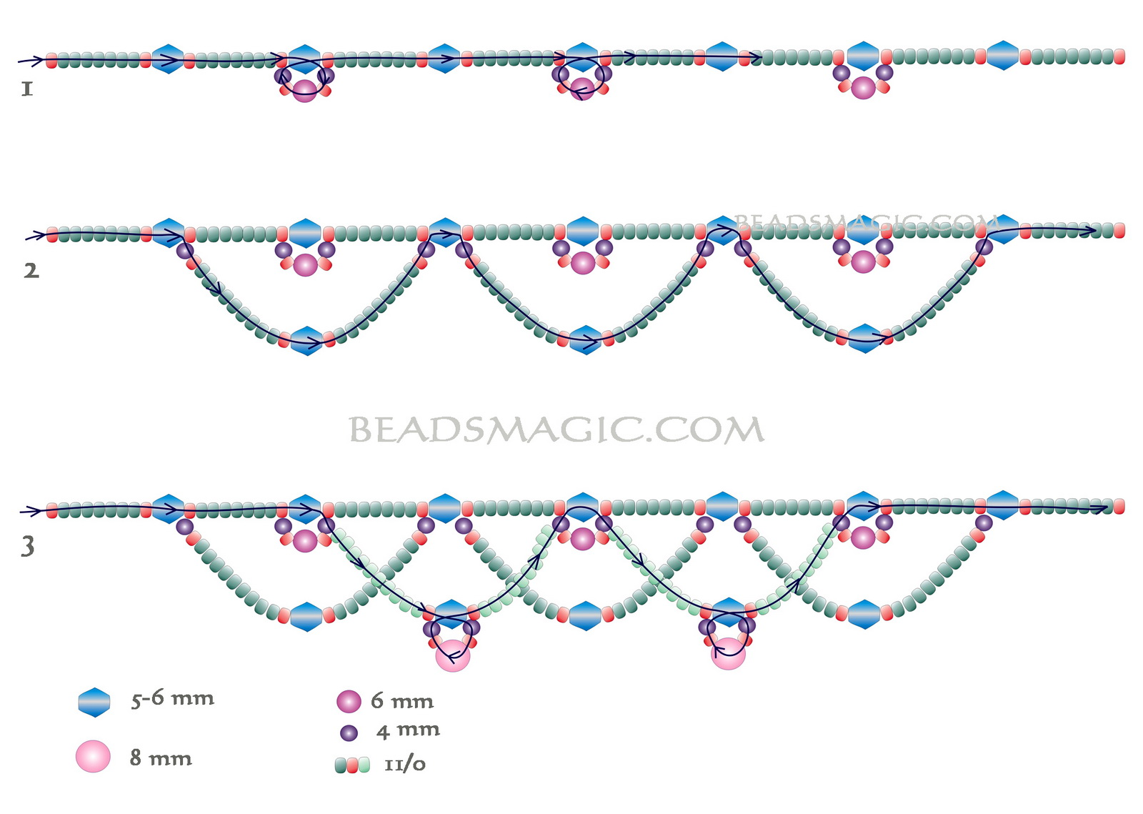free-beading-pattern-tutorial-necklace-1