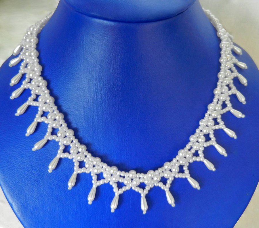 ceefae936e Free pattern for beaded bridal necklace Monica | Beads Magic