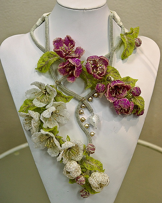 Beautiful Jewelry With Flowers Beads Magic