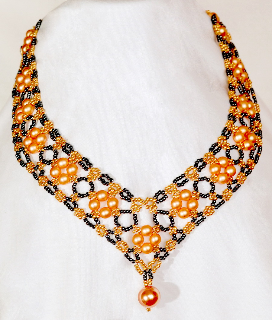 Free pattern for beautiful beaded necklace Margaret ...