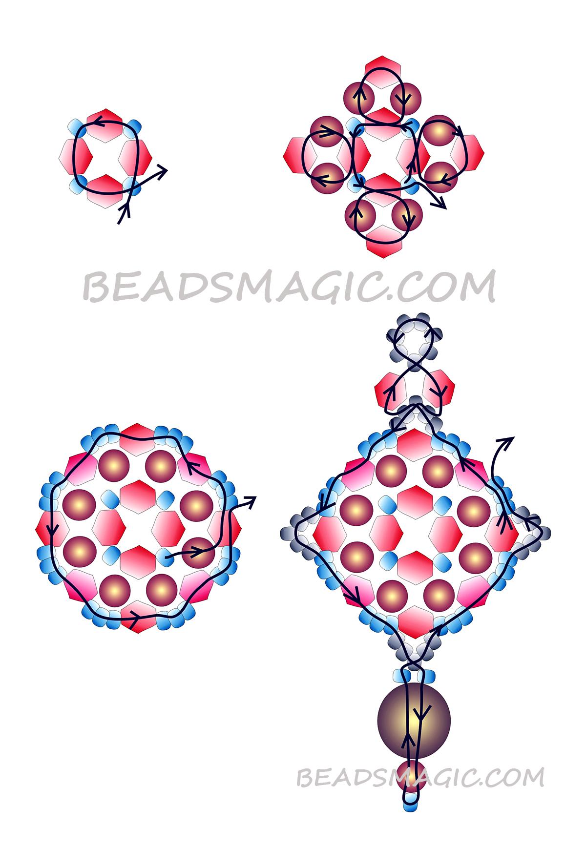 free-pattern-beaded earrings-2