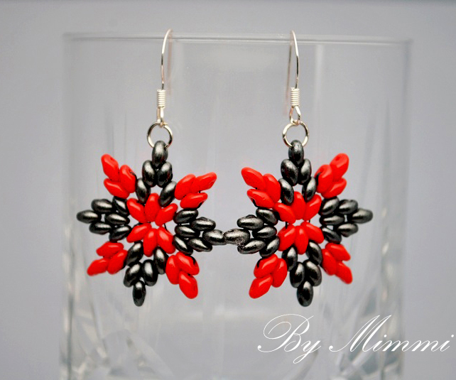 Free Pattern For Earrings Carmen With Super Duo Beads Magic