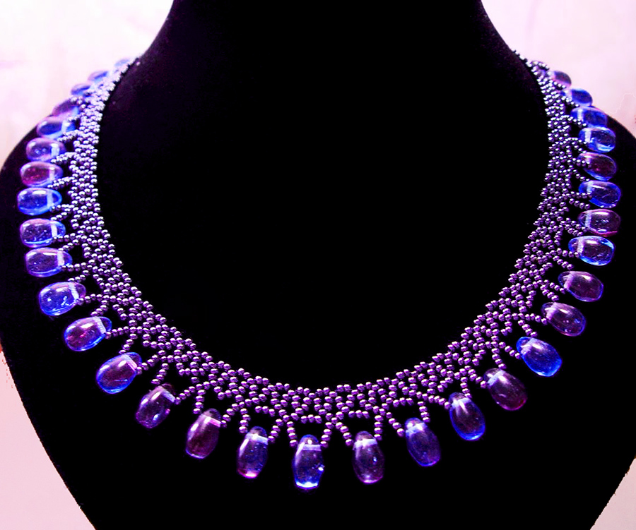 Free Pattern For Beaded Necklace Galaxy Beads Magic Enchanting Beaded Necklace Patterns