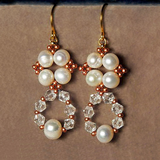 Free Beading Tutorial Earrings Pattern 1