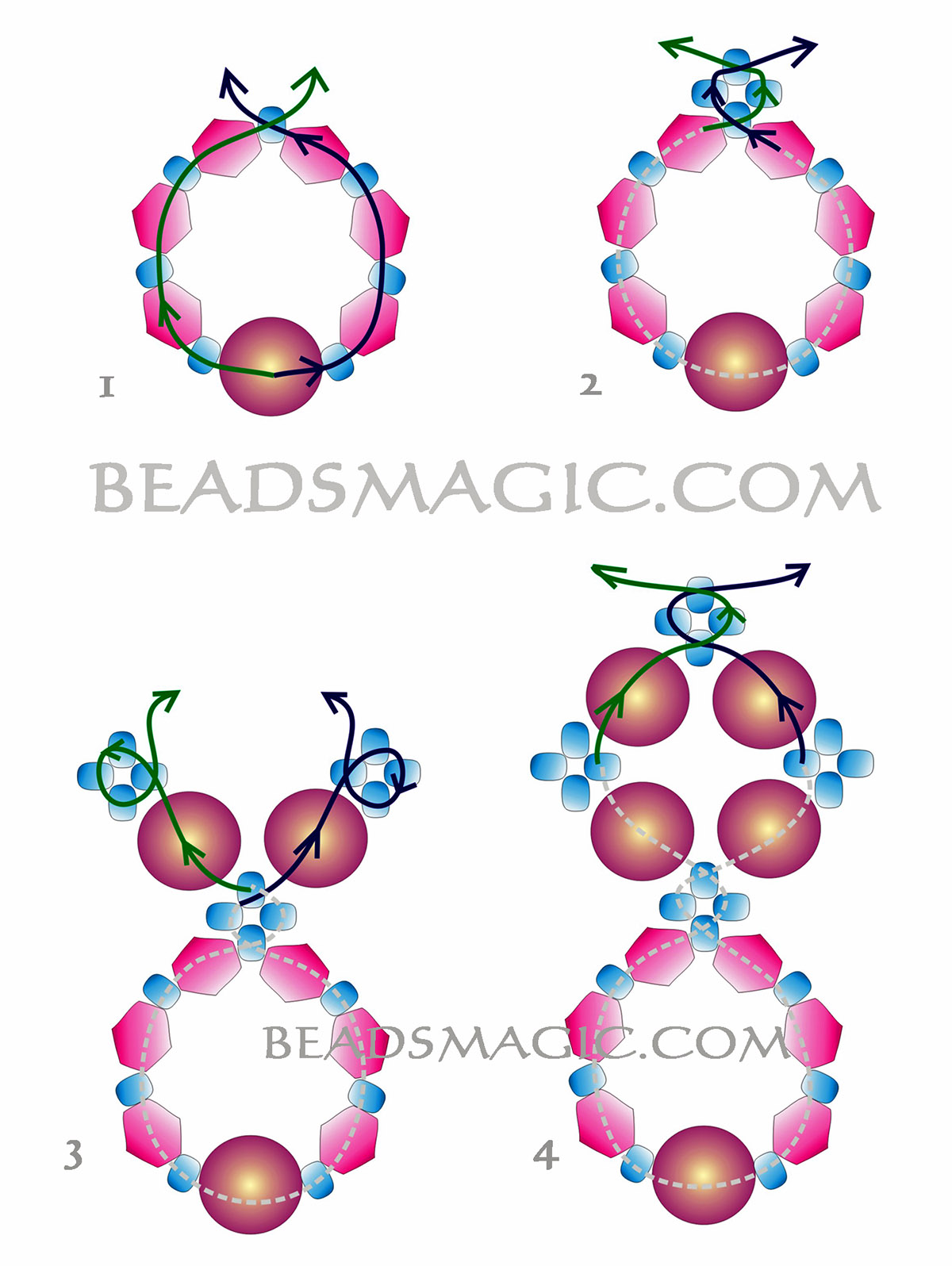 free-beading-tutorial-earrings-pattern-2