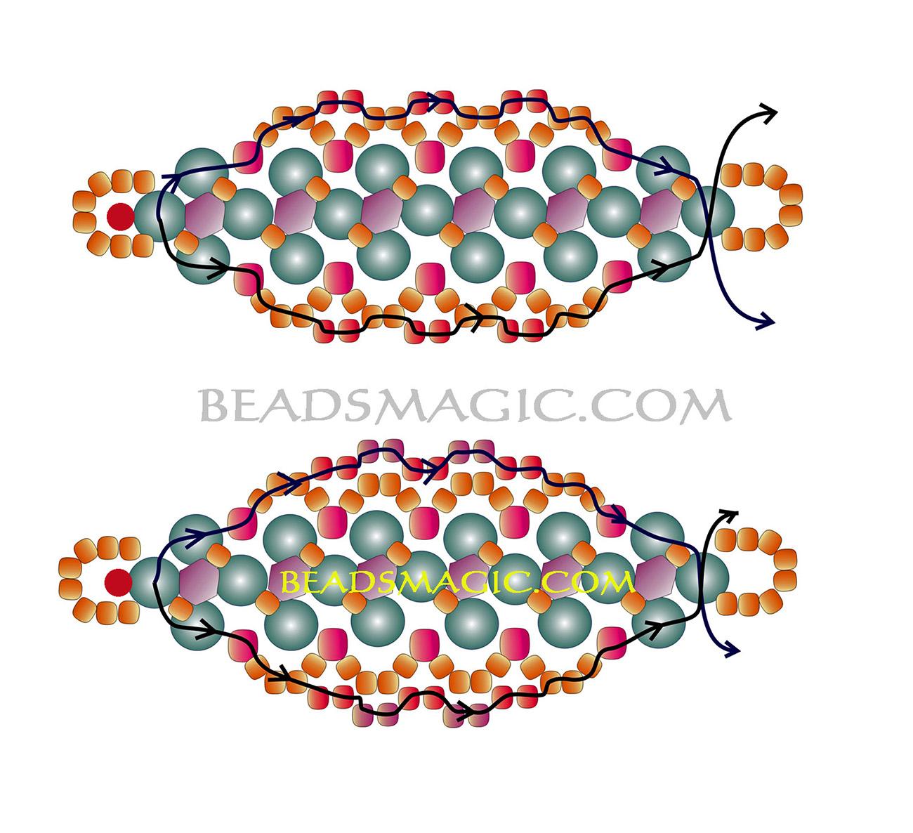 free-beading-tutorial-bracelet-pattern-2-2