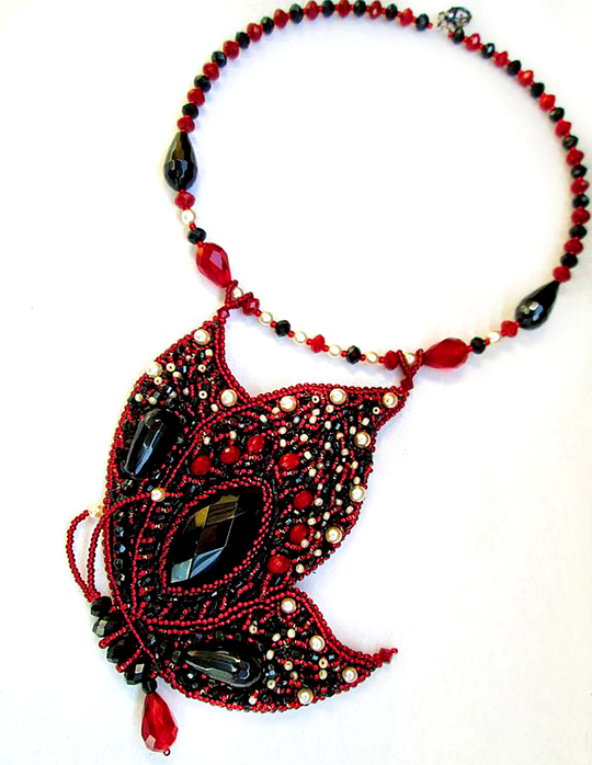 Beautiful beaded jewelry with butterflies (part I)