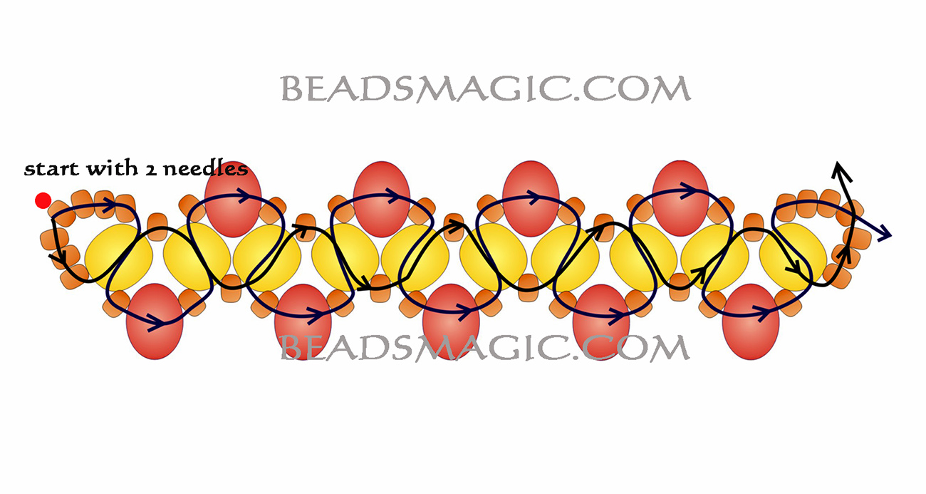 free-beaded-necklace-tutorial-gold-2
