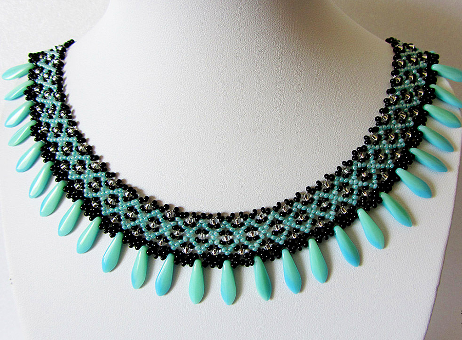 Free pattern for necklace Sogdiana by Lyubov Buntova