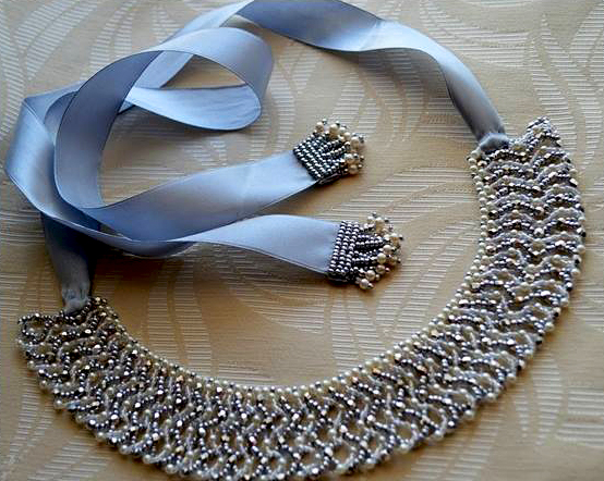 Free pattern for necklace Morning