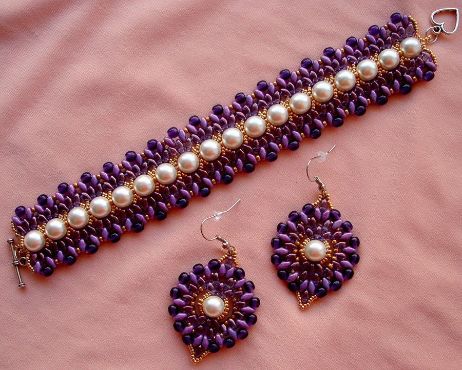 Free Beading Tutorial Barcelet Pattern 1