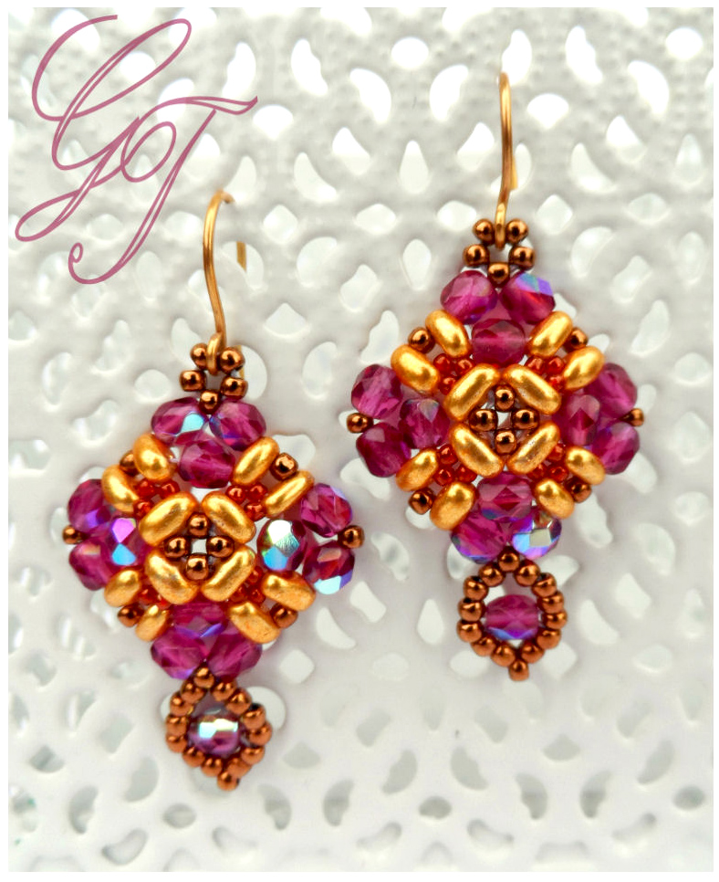 Free pattern for earrings Holiday Balcony