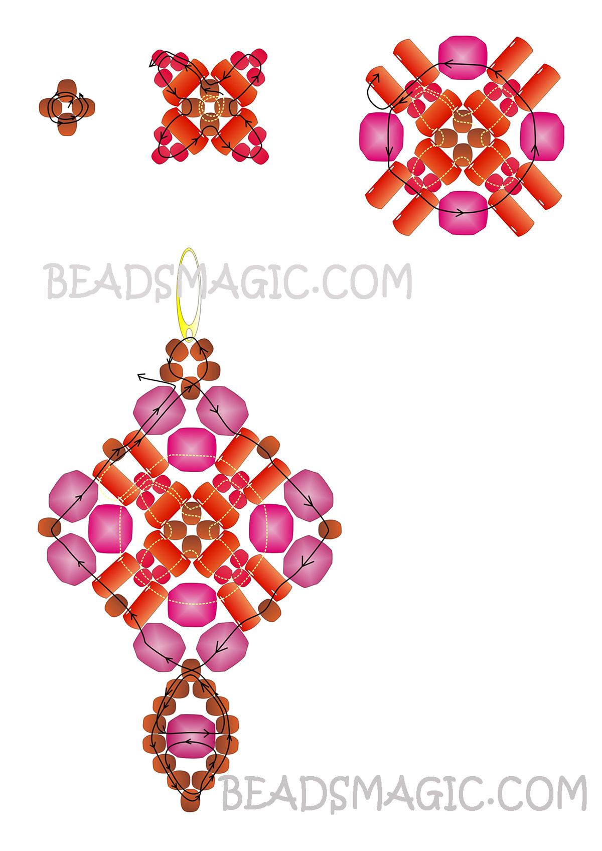 free-beading-tutorial-earrings-twin-pattern-2