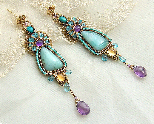 Beautiful embroidered earrings