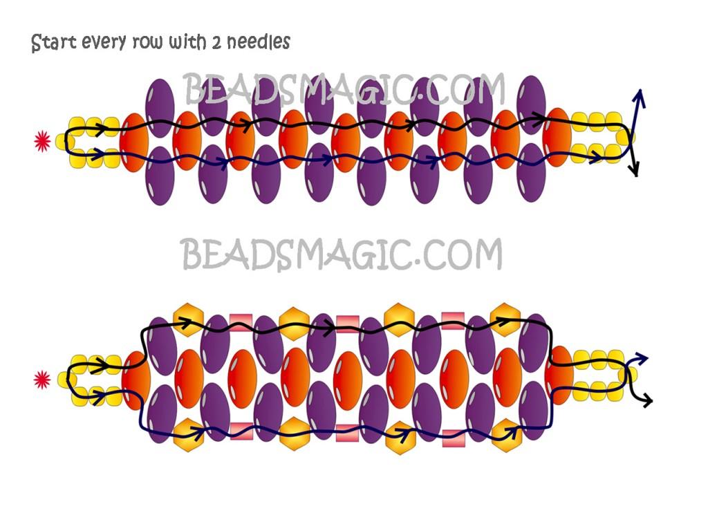 free-beading-tutorial-bracelet-pattern-2
